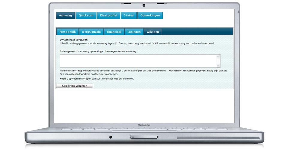 Hier kunt u eventuele opmerkingen plaatsen welke van toepassing zijn op het aangevraagde krediet.